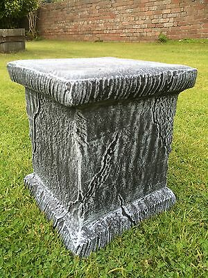 Cast Stone Plinth Pedestal Base Concrete Garden Ornaments Cast Stone