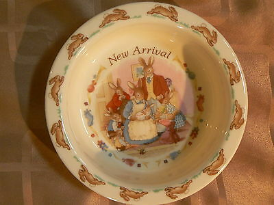Bunnykins New Arrival Plate Royal Doulton 16cm Bowl  Collectors item