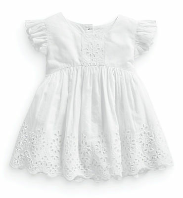 ВNWT NEXT Girls Tunic • White Broderie Lace Blouse • 100% Cotton • 3-6 Months