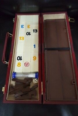 Vintage Tile Rummy Deluxe Set In Attache Case Beautiful