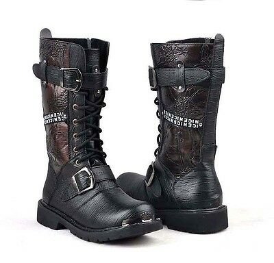 Unique # 2016 BAND ROCK-TOP COOL Fashion MEN MALE Trend ARMY long boot US 11 12