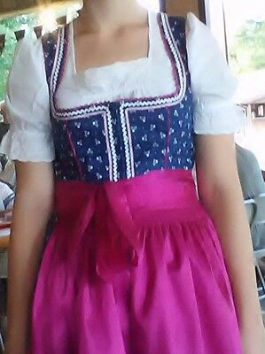 German Austrian Dirndl  Dress Edel Herz NWT  Size 34 or 6 Oktoberfest Maifest