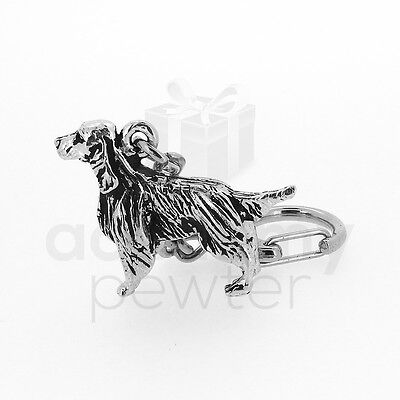 Academy Pewter 'Red Setter' Keyring (UK Hand Crafted)