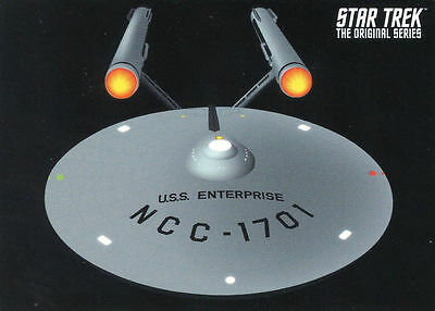 2014 Rittenhouse Star Trek TOS Portfolio Prints PROMO CARD P4 U.S.S. Enterprise