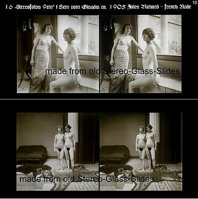 16 Stereofotos french Nude, Jules Richards Atrium, Lot 10, Stereoviews France