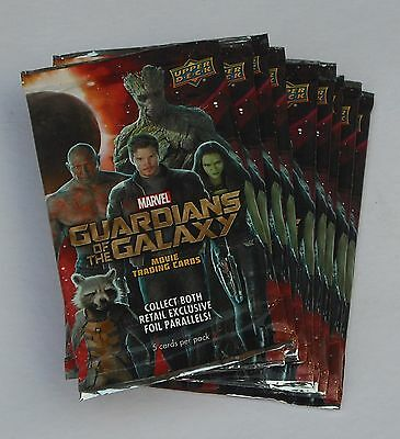 Upper Deck Guardians Of The Galaxy Movie Trading Cards Lot Of 19 Packs New