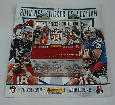 Panini Nfl Sticker Collection 2013 Album + 50 Pack Box New & Sealed