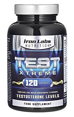 Testosterone Booster - Muscle Growth and Strength (120 Capsules) Test Xtreme