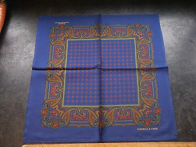 TURNBULL AND ASSER Jermyn Street, Italian silk pocket square / hankerchief NEW.
