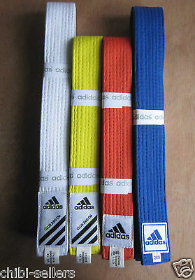 Adidas Martial Arts Karate Judo Rank Belt Adib200E**new Free P&p**