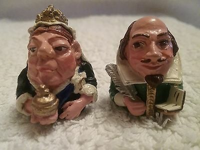 Shakespeare and Queen Victoria novelty thimbles