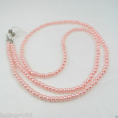 Pink Pearls Sunglasses Reading Glasses Spectacles Eyeglass Holder Chain Cord