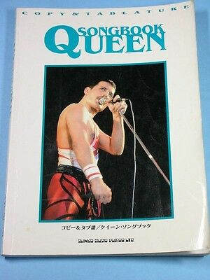 Queen Song book Score tab Freddie Mercury Brian May Roger Taylor Japan