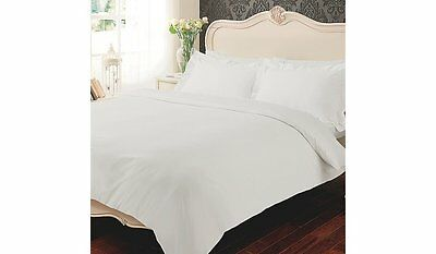 100% Egyptian Cotton 600 TC Duvet Cover Bedding Bed Set White Fitted Flat Sheet
