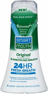 Smart Mouth Original Activated Mouthwash, Clean Mint - 16 Fl Oz (Pack Of 6)