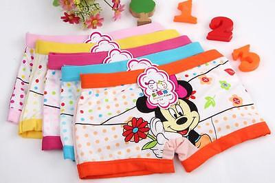 10 Pairs Minnie Mouse Kids Cartoon Briefs Panties Underpants Underwear F32