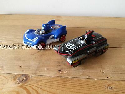 2 x Sonic & Shadow The Hedgehog All Star Racing Slot Cars