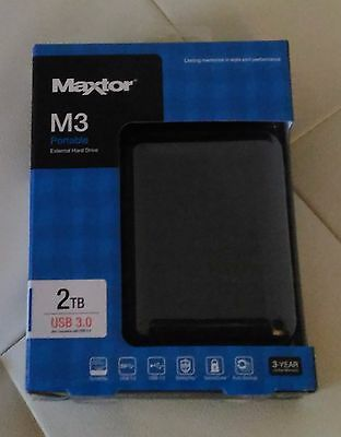 MAXTOR disque dur externe 2.5 2 To USB 3.0 compatible USB 2.0 neuf sous blister