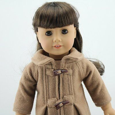 Doll Cloth Fits for 18 inch American Girl Doll Camel Woolen Coat Outfit