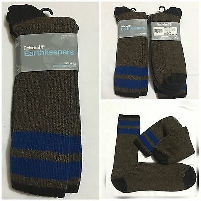 Timberland Earthkeepers 2-Band Recycled Materials Boot Crew Socks Men Large