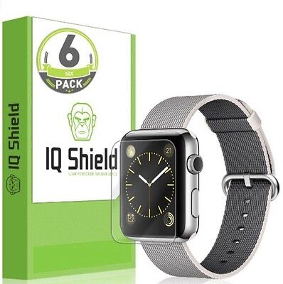 Apple Watch 38mm Screen Protector, Shield LiQuidSkin 6-Pack Full Coverage