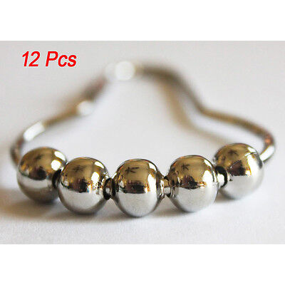 2//5//10 Stainless Steel Polished Chrome Rolling Shower Curtain Rings Duty Hooks