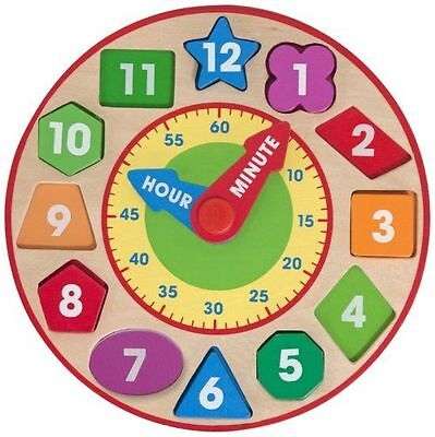 Shape Sorting Clock - Fun Learning Toys by Melissa & Doug (8593)