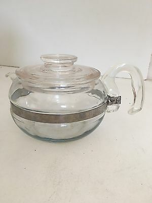 Vintage Pyrex Flameware Tea Pot 8446-B 6 Cup Pyrex