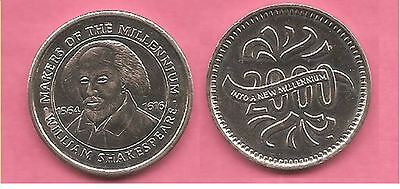 William Shakespeare Sainsburys Makers of the Millennium coin / token / medal.