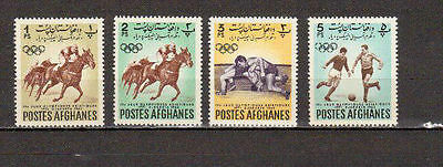 STAMPS, Afghanistan.MNH. Sports. Olympic Games. Djakarta 1962.SC# 599-601,603