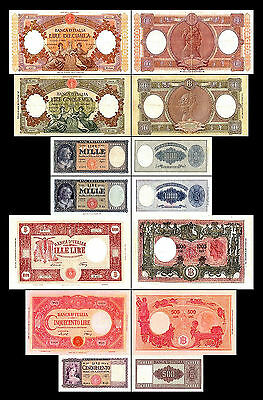 * * * 500 - 10.000 Italian Lire - Issue 1947 - 1963 - 7 Banknotes - 08 * * *