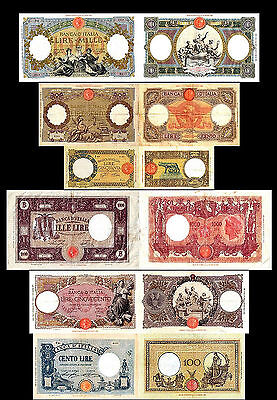 * * * 50 - 1.000 Italian Lire - Issue 1926 - 1943 - 6 Banknotes - 12 * * *