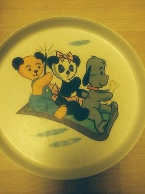 Vintage Sooty, Sweep and Sue  Childs Plate Made by Gaydon Melmex 1970's