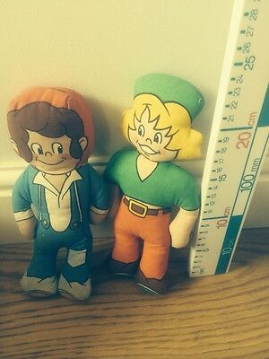 **AHHH BISTO** LOVELY COLLECTABLE PAIR OF DOLLS AS THE BISTO KIDS 1989 Cloth Rag
