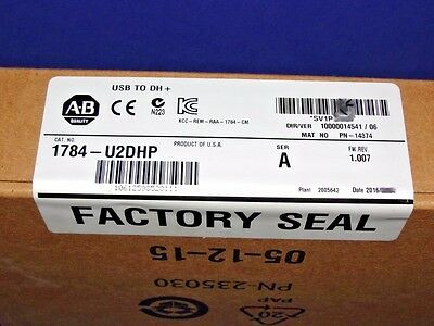 2016 FACTORY SEALED Allen Bradley 1784-U2DHP USB to Data Highway Plus Cable
