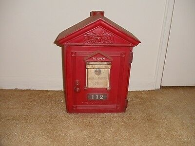 **FINAL PRICE REDUCTION** Vintage Gamewell Fire Alarm Box Station with Key
