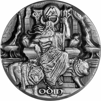 2016 3 oz Odin Silver Coin | Legends of Asgard | Max Relief | In Hand!