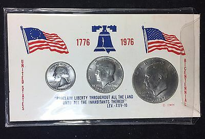 1976-D Bicentennial Set Eisenhower Dollar Kennedy Half Washington Qtr