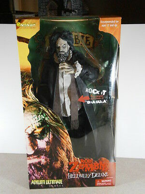 """Rob Zombie 18"""" figure Hillbilly Deluxe Asylum Ultimate series doll dvd music cd"""