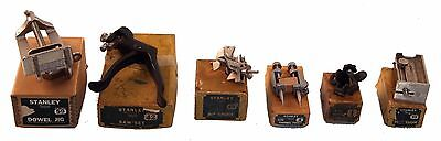 Six Stanley Woodworking Tools - All Original Boxes - Level Sights, Saw Set, Jig,