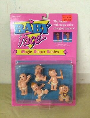 1991 Baby Face Doll MAGIC DIAPER BABIES No. 38010 Galoob NOS Vintage