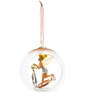 Disney Tinkerbell With Rings Open Globe Christmas Decoration Ornament Bauble
