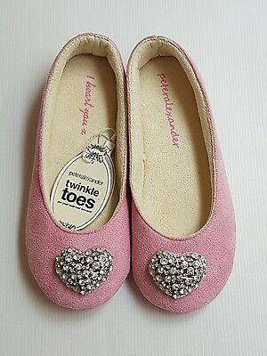 PETER ALEXANDER LADIES BLING HEART COUTURE SLIPPERS SHOES in Pink RRP$49.95 s 10
