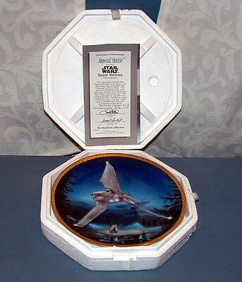 Star Wars; Space Vehicles, Imperial Shuttle Collector Plate - Hamilton - Mib
