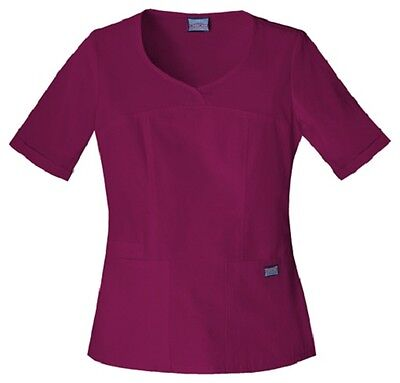 Cherokee Workwear Scrubs Women's V Neck Scrub Top 4746 Wine WINW Cherokee