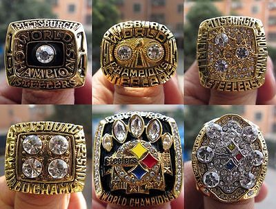1974 1975 1978 1979 2005 2008 Pittsburgh Steelers championship ring 1 Set Gift