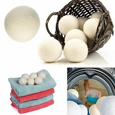 Home Saves Drying Time Natural Reusable Handy Laundry Wool Felt Dryer Balls