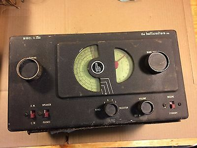 Vintage Hallicrafters S-38B Tube Radio for parts/repair - you'll love this one!