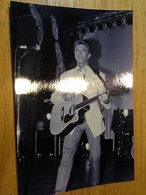RARE David Bowie 1980's Stage Concert Photograph PHOTO PRINT 12-string guitar