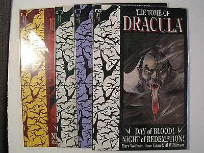 The Tomb of Dracula 1-4, COMPLETE, Wolfman, Colan, Williamson, Epic 1991